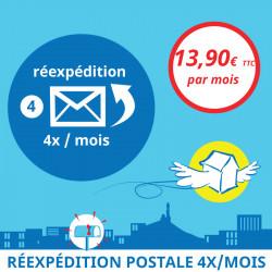 Adresse postale en France - Réexpédition postale 4x / mois