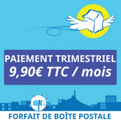 Adresse postale en France - 3 mois de boîte postale Marseille 7
