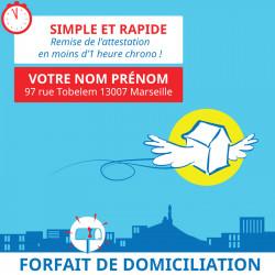 Adresse postale en France - 1 an de boîte postale à Marseille 7
