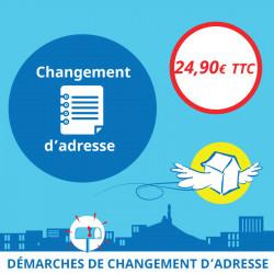 Adresse postale en France - Changement d'adresse en ligne