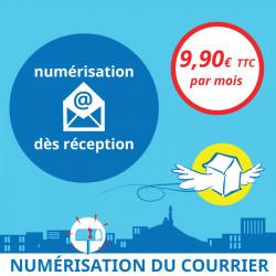 Adresse postale en France - Numérisation du courrier dès réception