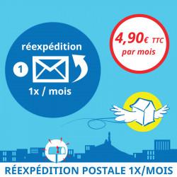 Adresse postale en France - Réexpédition postale 1x / mois